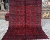 Size 6 39 8 x 9 39 9 Ft, Gorgeous Afghan Turkoman Khal Mohammadi Area Rug, Caucasian Area Rug, Turkish Rug, Armenian Rug Kilim, Wholesale Price
