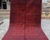 Size 6 39 8 x 10 39 1 Ft, Gorgeous Afghan Turkoman Khal Mohammadi Area Rug, Caucasian Area Rug, Turkish Rug, Armenian Rug Kilim, Wholesale Price