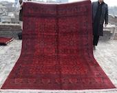 Size 6 39 8 x 9 39 6 Ft, Gorgeous Afghan Turkoman Khal Mohammadi Area Rug, Caucasian Area Rug, Turkish Rug, Armenian Rug Kilim, Wholesale Price