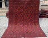 Size 6 39 9 x 9 39 8 Ft, Gorgeous Afghan Turkoman Khal Mohammadi Area Rug, Caucasian Area Rug, Turkish Rug, Armenian Rug Kilim, Wholesale Price