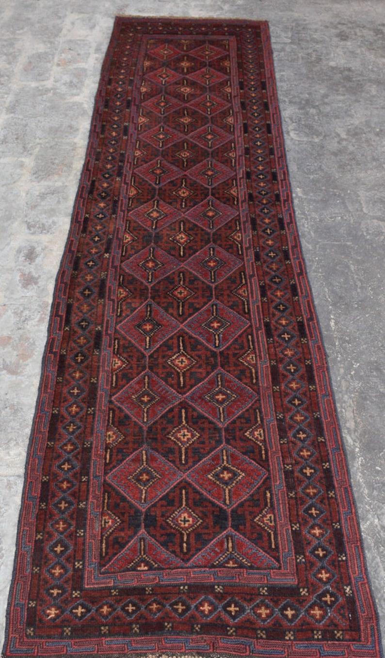 Beautiful Vintage Afghan Tribal Best Mishwani Runner Rug Size: 2/'2 x 9/'1 Ft Natural colors Wholesale Prices Geometric Runner 100/% wool