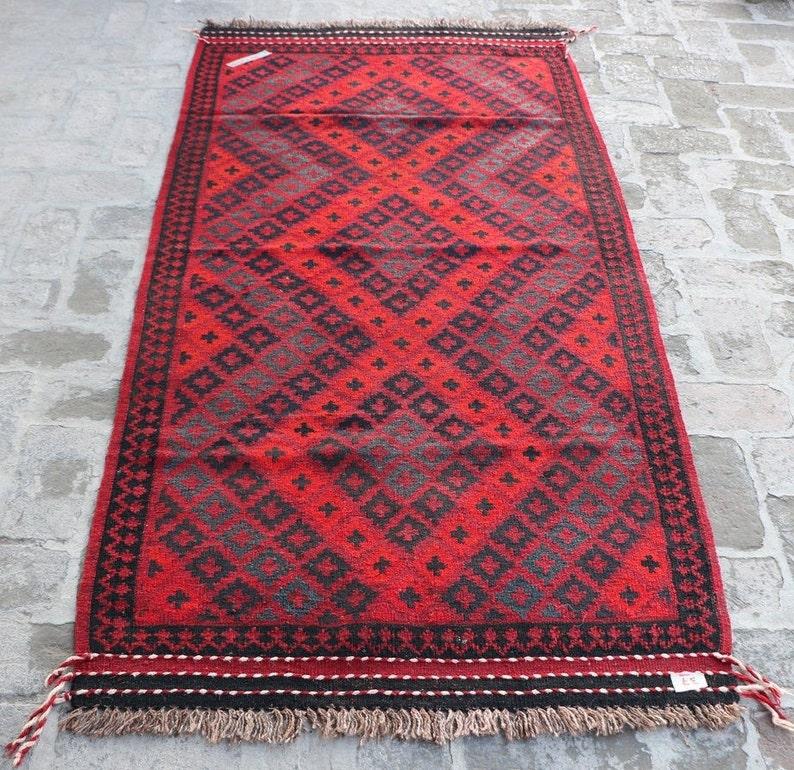 Vintage Maimana Kilim Rug Wholesale Price Size 213 x 101 Cm Turkish Kilim Rug Vintage Kilim Armenian Kilim Rug Afghan Kilim Rug