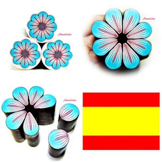 Tutoriel en argile polymère: Fimo fleur tutoriel cane fleur | Etsy