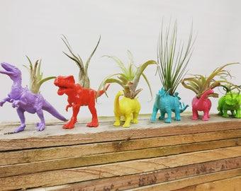 Customizable Dinosaur Planter Gift Set || Home Decor || Desk Accessory || Gift Idea || Upcycled Planter