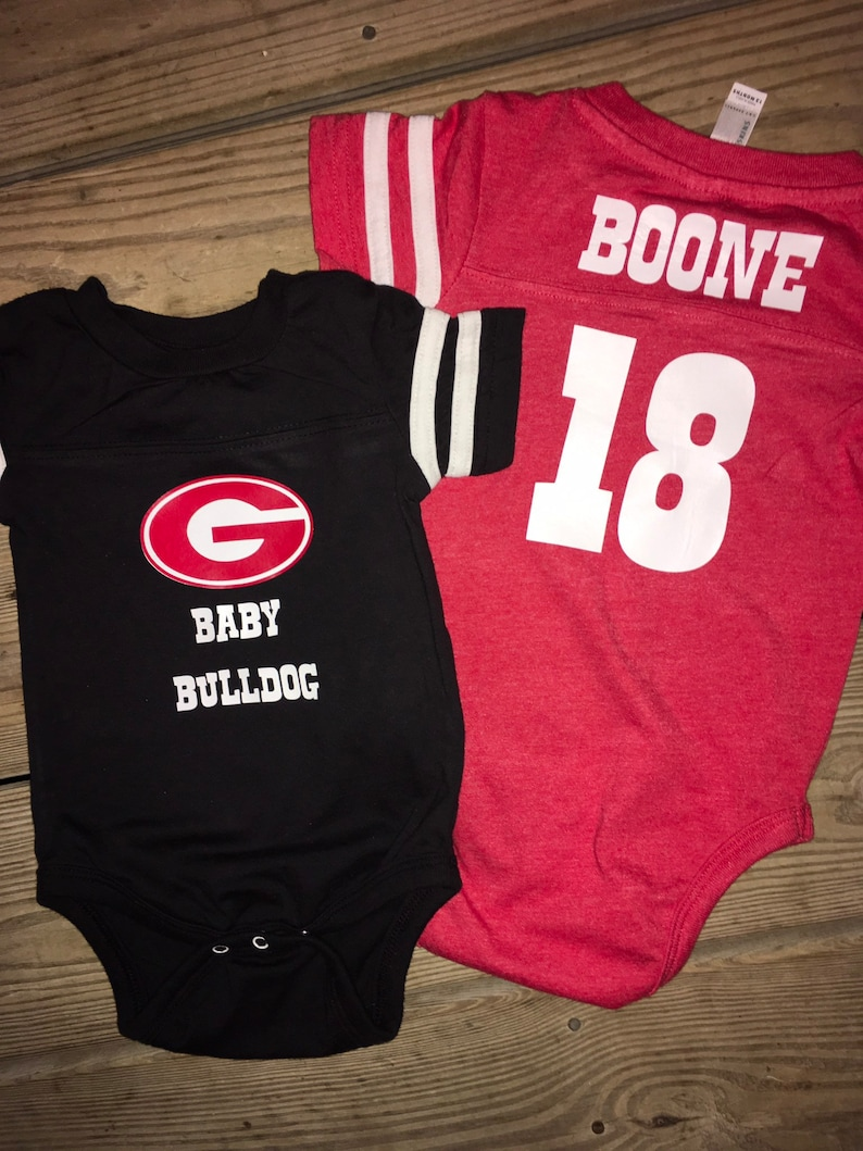 the latest bba77 ec4df Georgia Bulldogs baby jersey onesie * Personalized baby gift * BOY or GIRL  * UGA baby gift * Baby Bulldog