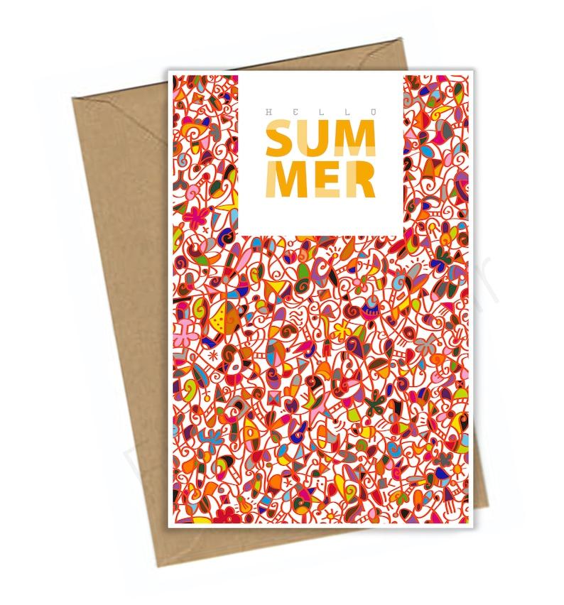 9d9010f17 Hola verano, postal, Instand descargar, sentir bien, diversión, playa, en  el amor, disfrutar, feliz sentimiento, Frank le pares, arte abstracto, ...