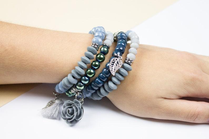 Statement bracelet statement wrap bracelet statement jewelry rose bracelet bracelet tassel romantic bracelet statement spiral bracelet