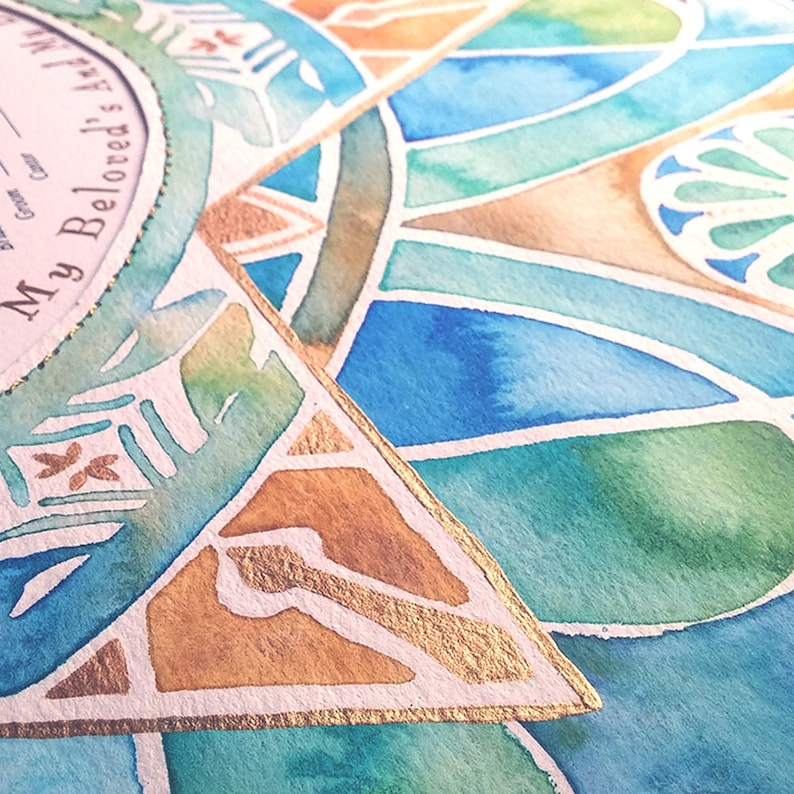 Ketubah Wedding Ketubah Jewish wedding Gift Painted Ketubah Modern Ketubah Star Of David Ketubah Custom Ketubah Watercolor Ketubah