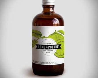 LIME & PEPPER SYRUP