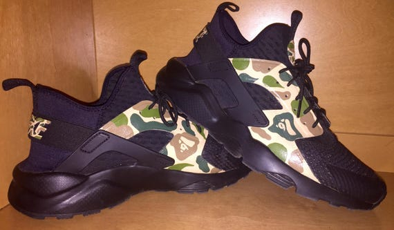 b1f0112a78de Items similar to Nike Huarache Run Ultra Bape Custom on Etsy