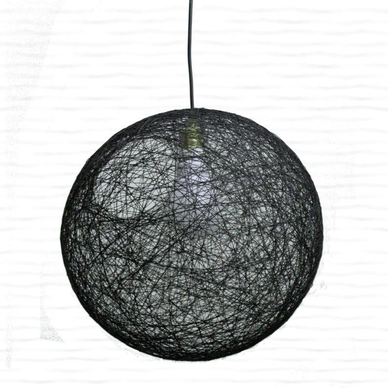 Beroemd Grote zwarte bol verlichting armatuur hanger licht. Moderne | Etsy OB58