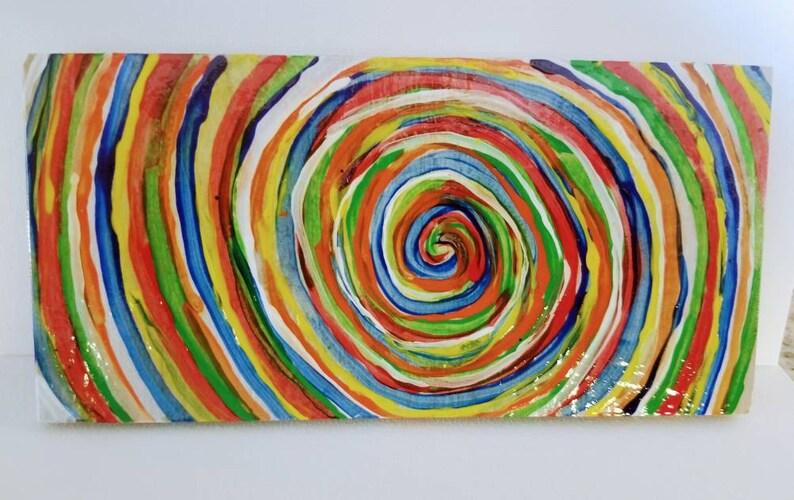 Italian Painted Tile Dual Coaster image 0