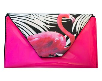 Pink clutch bag // Envelope Clutch // Pink clutch purse // Evening Bag // Gifts for her // Birthday Gift