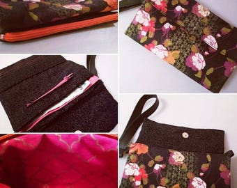 The Ultimate 2 in 1 Clutch Purse/Wallet/Wristlet   Handmade in any Colour   Comes with long and wristlet strap