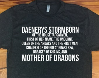 Game of Thrones - Daenerys full name tshirt