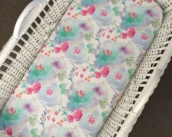 Bassinet Fitted Sheet - Florals