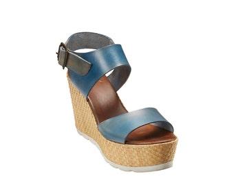 db768f40c8141 Italian wedge sandal   Etsy