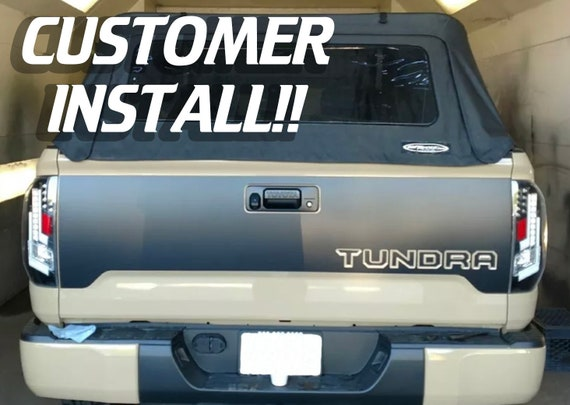 Vinyl Inlays for Stamped Tailgate fit Toyota Tundra 2014 2015 2016