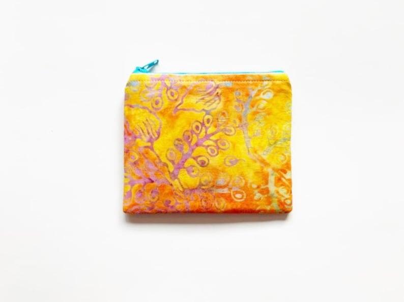 Sunshine Batik EMF Shielding Homeopathy Storage Zippered Bag