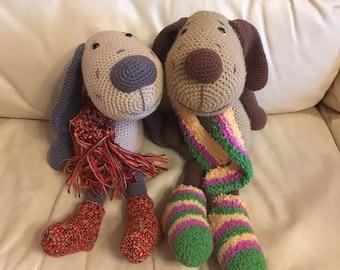 Crochet dog, stuffed dog, stuffed puppy, dog doll, puppy doll, dog toys, knit puppy, puppy, crochet toys, knit dog, crochet dog toy