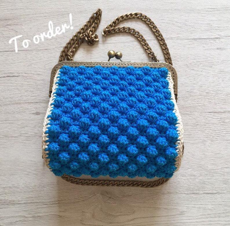 Borsetta Azzurra Alluncinetto Con Clic Clac Etsy