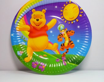 Winnie the Pooh paper plates 10 pcs. Paper plates for childrenu0027s holiday. Set for childrenu0027s party or birthday. Winnie the Pooh party. & Pooh party | Etsy