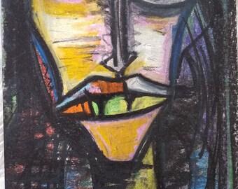 Lips original painting