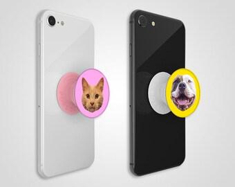 8a92e6de2fc Custom Pet Head PopSocket Phone Grip (Digital File)  ADD-ON