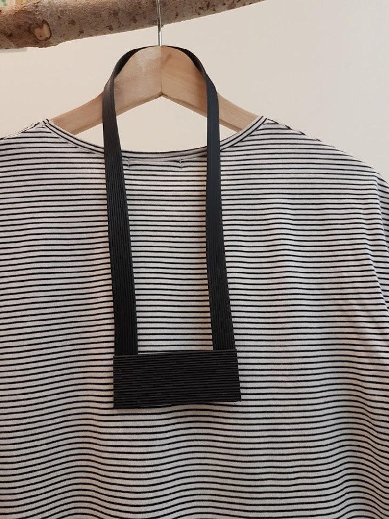 black oversized necklace black ooak necklace black statement necklace Black necklace free shipping necklace black geometric necklace
