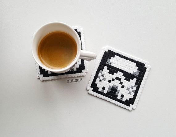 Star Wars Coaster Pixel Art Perler Hama Beads Coaster Stormtrooper 8 Bit Pixel Coaster