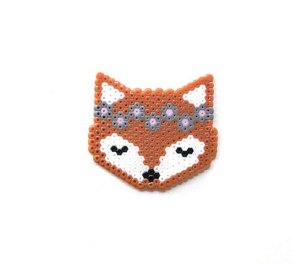 Woodland Keychain Kawaii Animal Fox Pixel Art Mushroom Perler Hama Hedgehog Rabbit