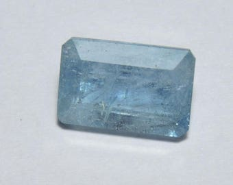 5.10 Carats 1 Pieces Beautiful Natural Aquamarine Faceted Rectangular Cut Stone Size 12X8 MM