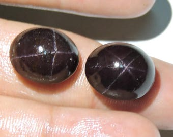 2 Pieces Beautiful Natural 4 Ray Garnet Oval Shaped Smooth Polished Loose Gemstone Size 11X9 MM