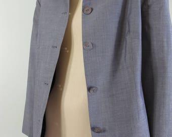 Vintage ITALY WOOL SILK David Laurence Classic Corporate Office 3/4 Sleeve Jacket Top