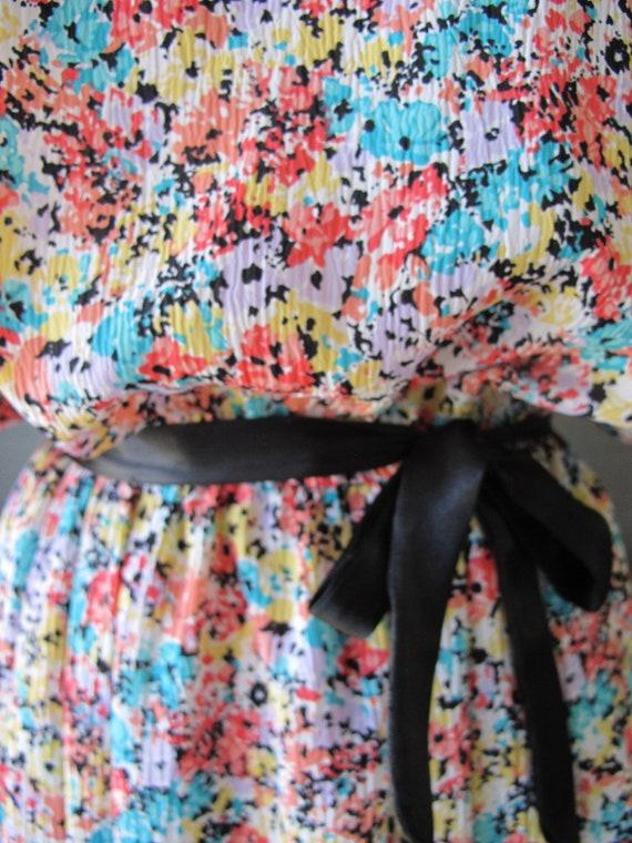 Vintage Floral Butterfly Flutter Sleeve Midi Dress Festival Tea Dress