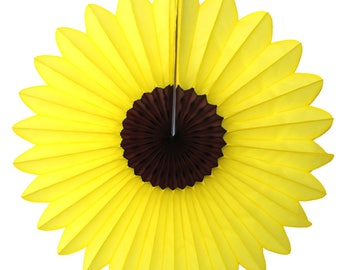 6-pack 18 Inch Tissue Paper Sunflower Fan Spring Party Decoration