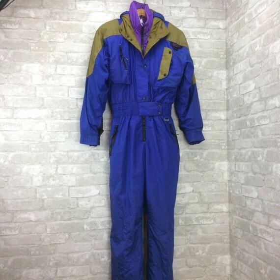 Vintage Mountain Goat Ski Suit Womans 8 Blue 1 Pie
