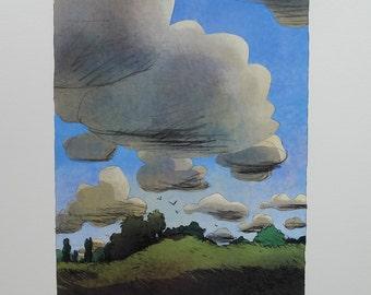 Signed print - Daubigny garden