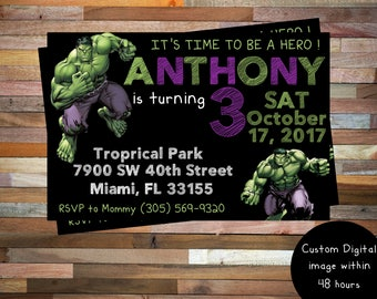 Hulk Birthday Invitation