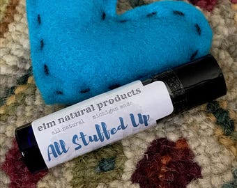 All Stuffed Up Relief Roller Bottle for Cold & Flu - Stuffy Nose Relief, Get Well Soon