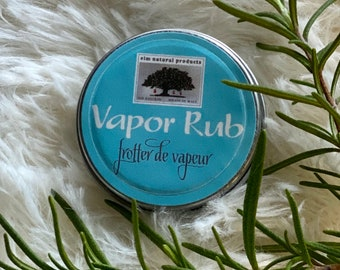 Vapor Rub for chest congestion, cough, stuffy nose relief