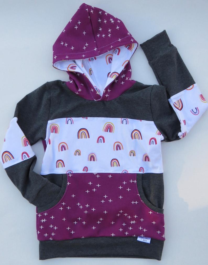 kids hoodie rainbow hoodie Girl/'s hoodie