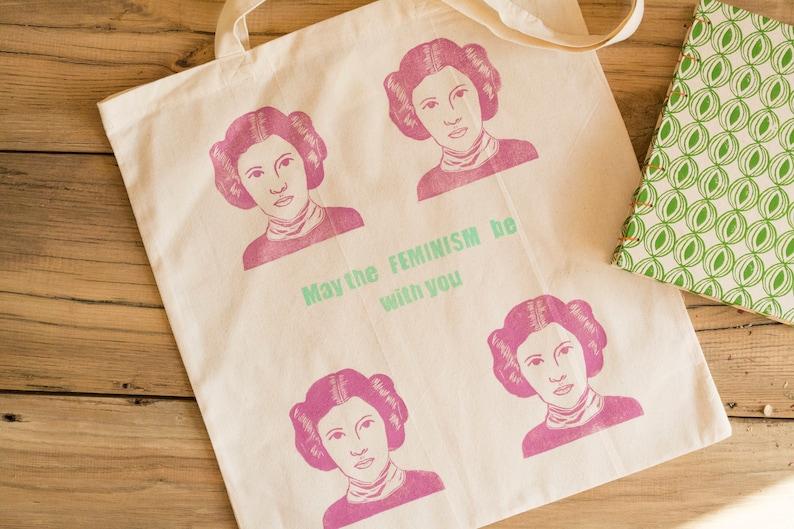 Feminism Wedding Bag Shopping Bag Cotton Market Princess Leia Tote bag