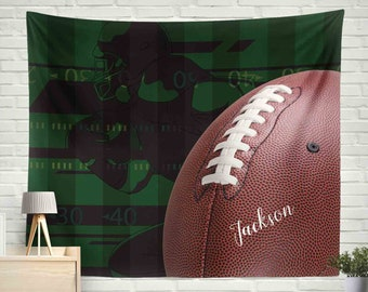 American Football Wall Tapestry, Football Tapestry, Personalized Tapestry,Sports wall tapestry,Tapetsry for Boys,Teen Tapestry
