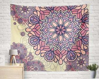 Mandala Wall Hanging, Mandala Tapestry, Wall Decor Tapestry, Bohemian Tapestry, Boho Tapestry, Boho Wall Decor, Boho Tapestries