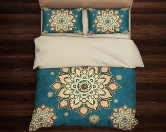 Bohemian Bedding Set, Boho Bedding, Mandala Bedding, Hippie Bedding, Ethno Bedding Set, Mandala Duvet cover, Indie Bedding, Boho Decor