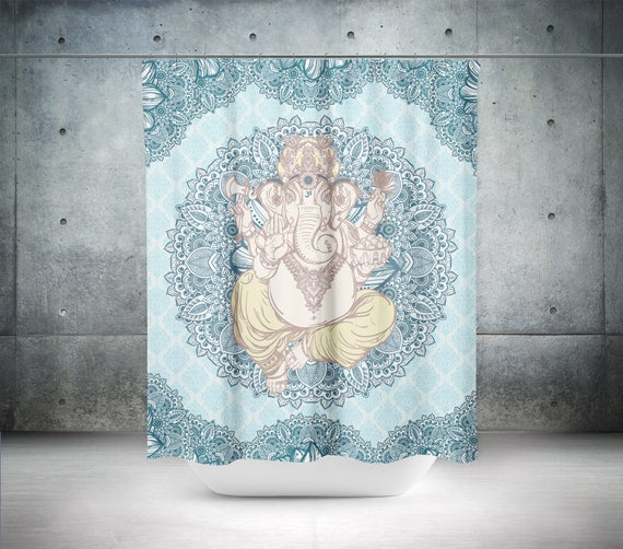 Ganesha Shower CurtainBoho DecorHippie