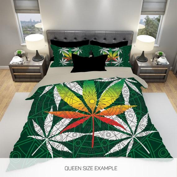 Home Bedding Pillow Set Brand New Cannabis Marijuana Ganja Leaf Printed Duvet Cover Bedding Home Furniture Diy Rpqualitycontrol Com Br