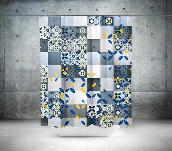 Spanish Tile Shower CurtainAbstract CurtainSpanish