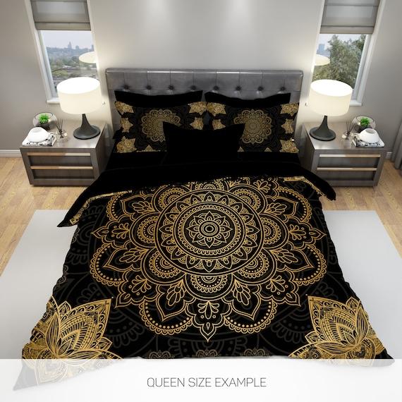 4 Pcs Boho Bedding Set Queen Bohemian, Boho Bedding Queen Size